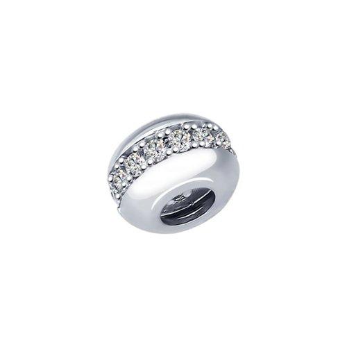 картинка подвеска-шарм из серебра с фианитами 94031658