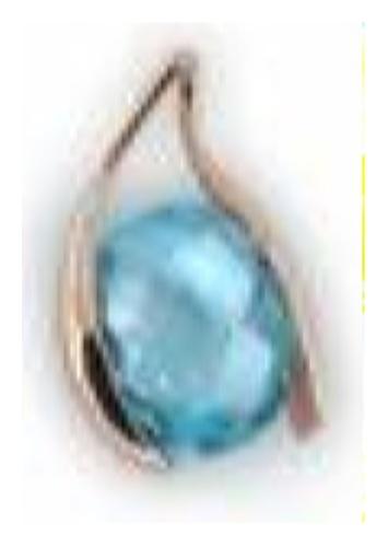 картинка подвеска из золота 585° с раух-топазом 4180837
