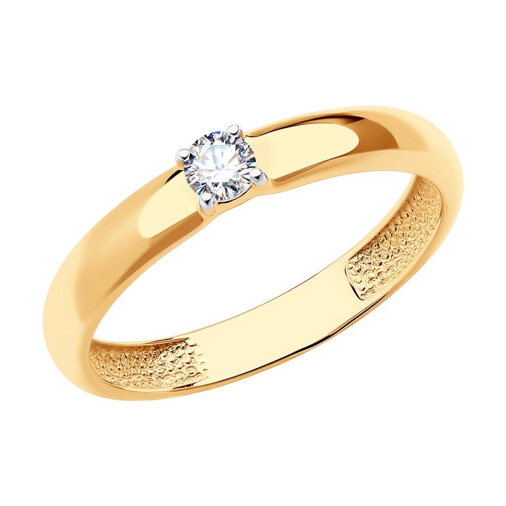 картинка помолвочное кольцо из золота со swarovski zirconia 81010221
