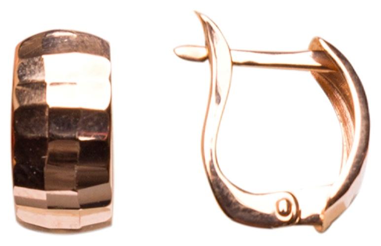 картинка серьги из золота 585° с фианитом АС-287