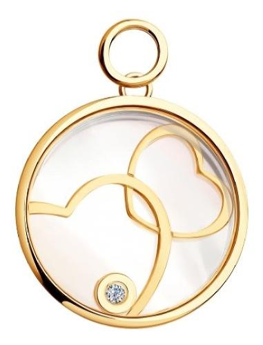 картинка подвеска из золота 585° с бриллиантом 1030431