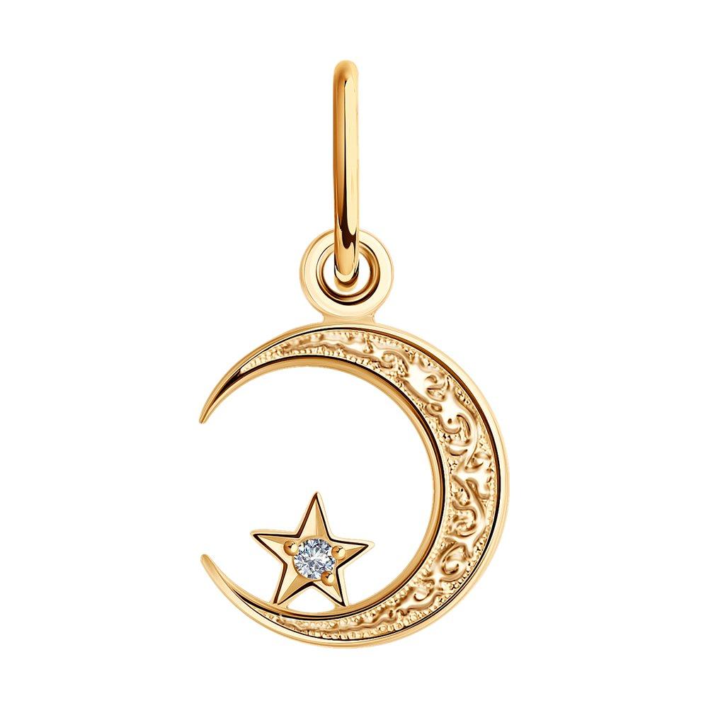 картинка подвеска мусульманская из золота с фианитом 030054