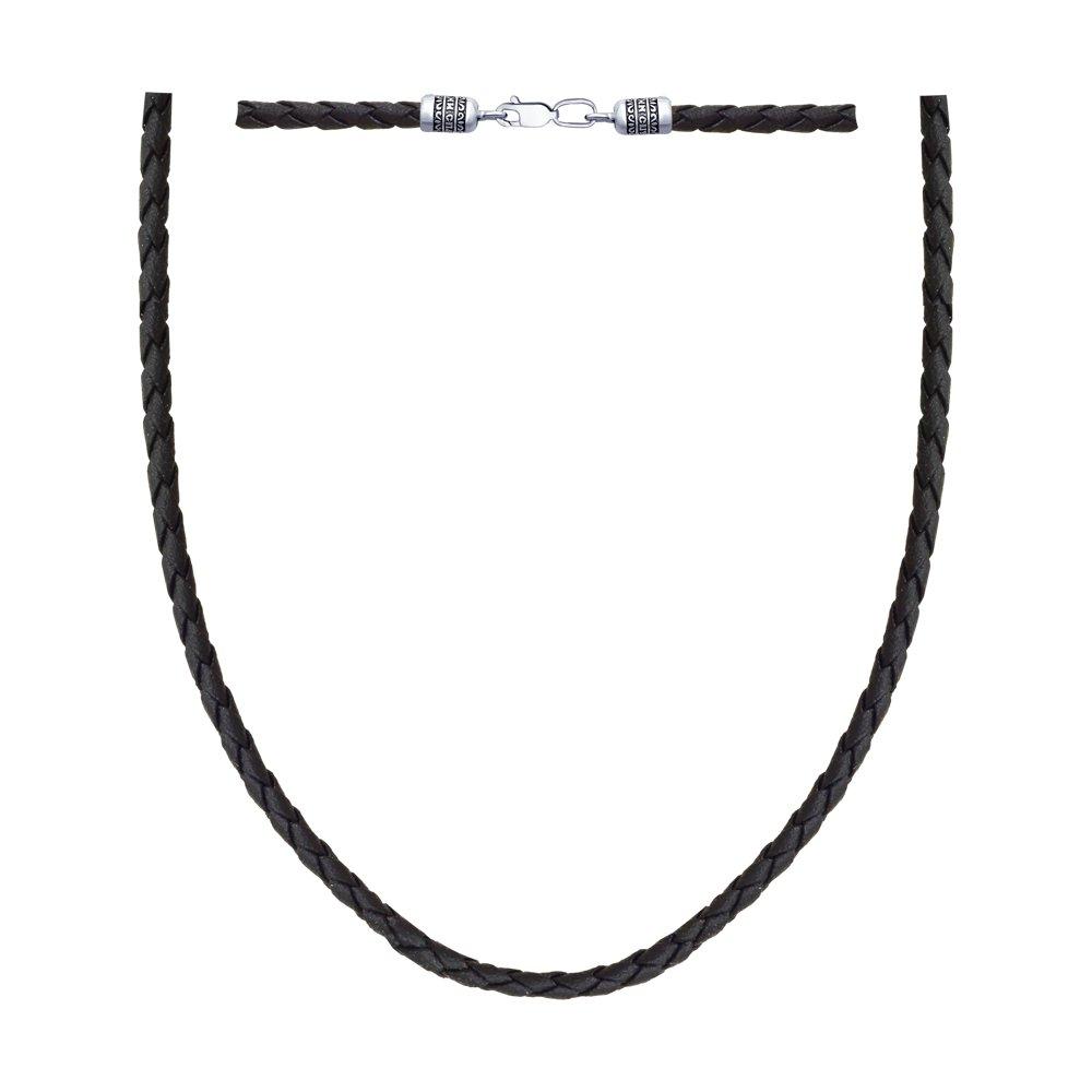 картинка шнур из чернёного серебра 95080008