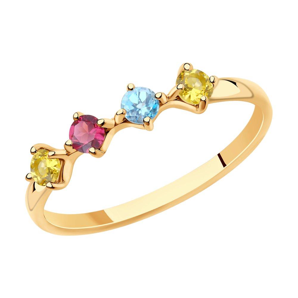картинка кольцо из золота с полудрагоценными вставками 715913
