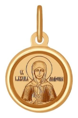 картинка подвеска из золота 585° с фианитом 103997