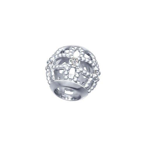 картинка подвеска-шарм из серебра с фианитами 94031680