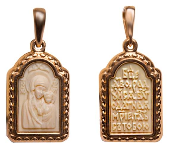 картинка подвеска из золота 585° с поделочным камнем 03-2585-00-292-1