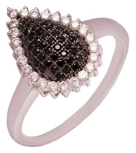 картинка кольцо из серебра 925° с фианитом cz00838rt