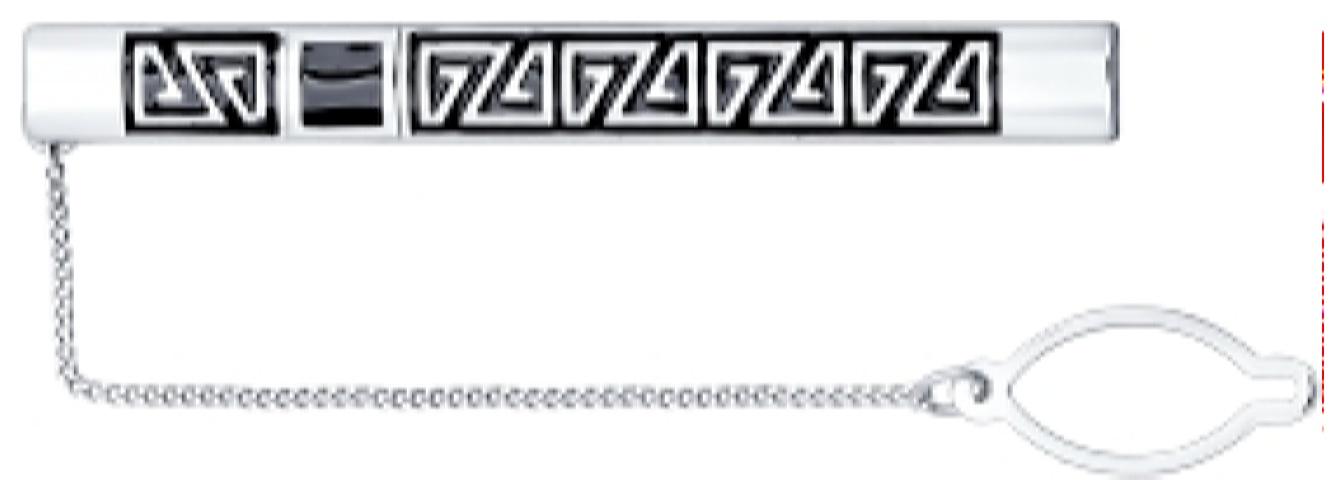 картинка зажим из серебра 925° с эмалью 94090001