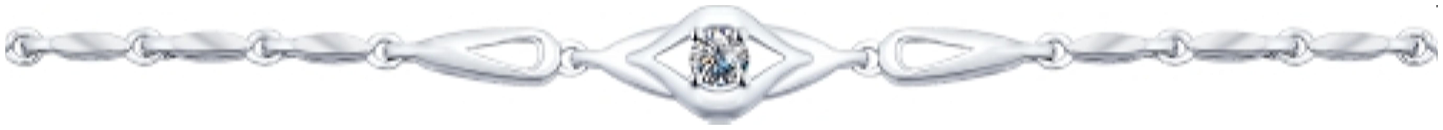 картинка браслет из серебра 925° с фианитом 94050307