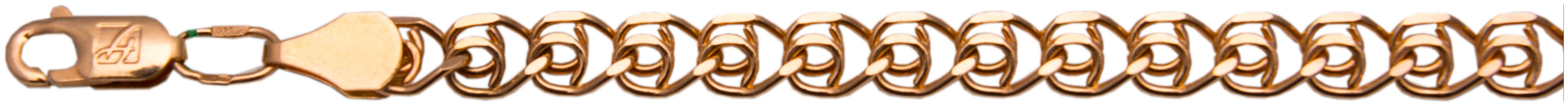 картинка цепь из золота 585° ЦЛ155А2-А51