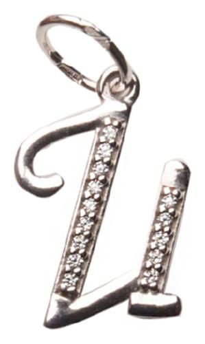 картинка подвеска из серебра 925° с фианитом 94030508
