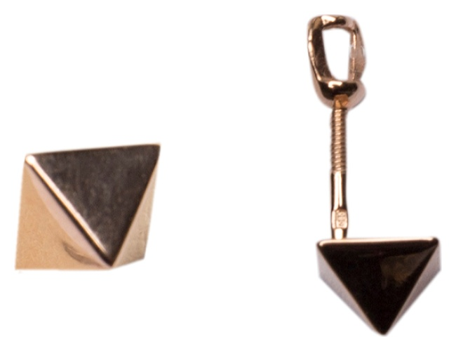 картинка серьги из золота 585° 121-1476