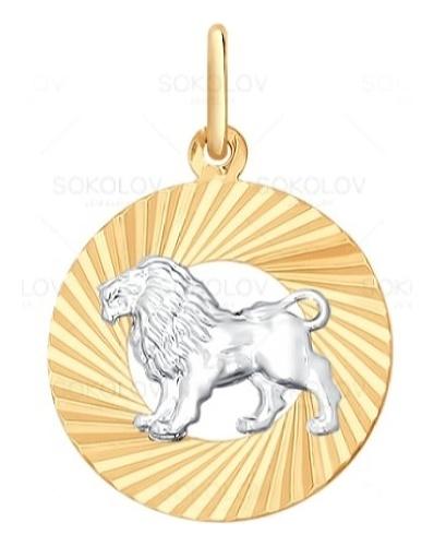 картинка подвеска из золота 585° с фианитом 031369