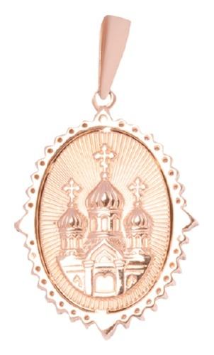 картинка подвеска из золота 585° с фианитом 04-0120-02-404-1110-52
