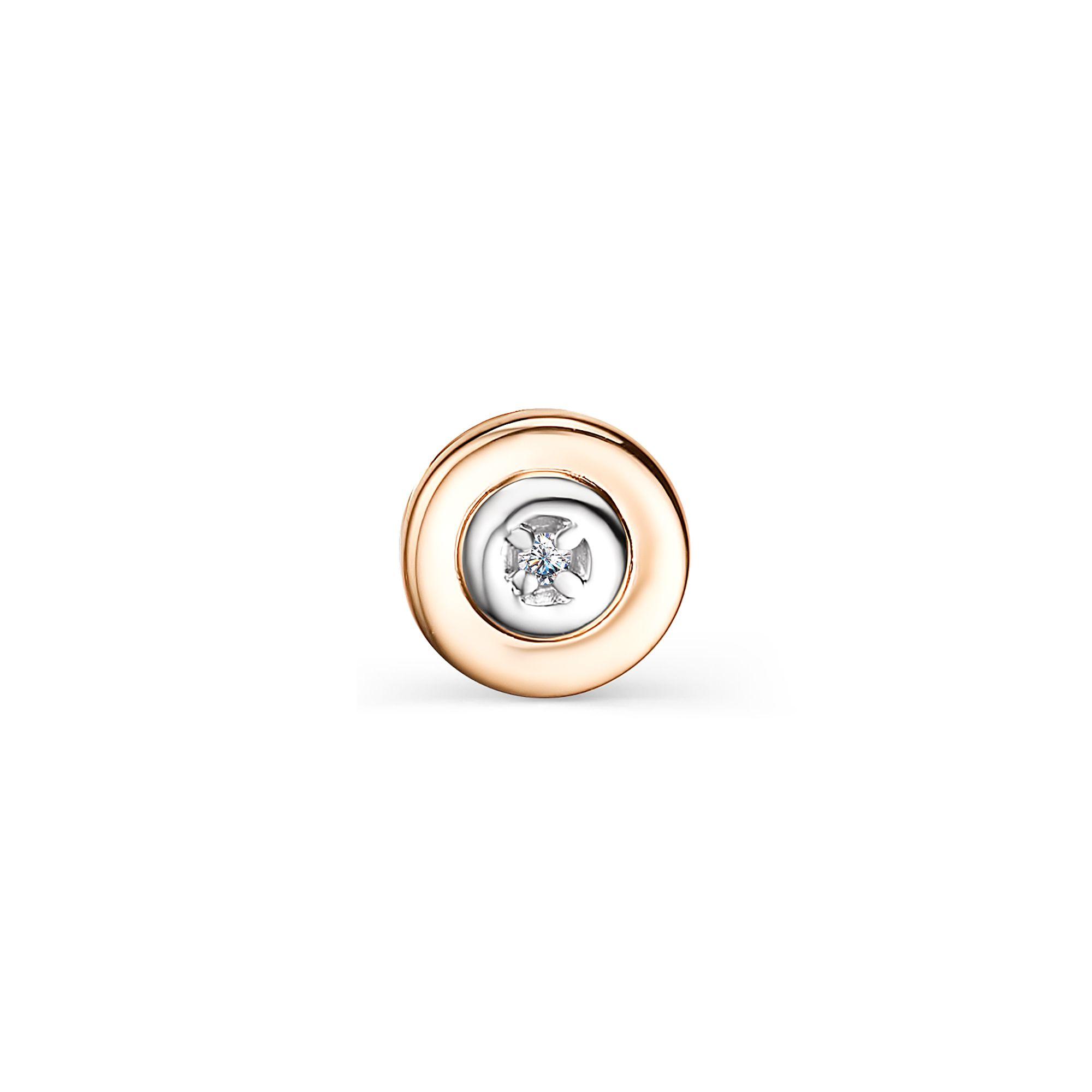 картинка подвеска 33774-100 1 бриллиант круг 17 0,004 200-400 2/3а 33774-100