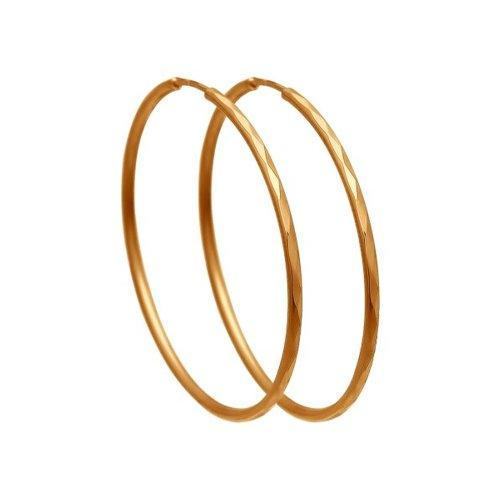 картинка серьги конго из золота с алмазной гранью 140006