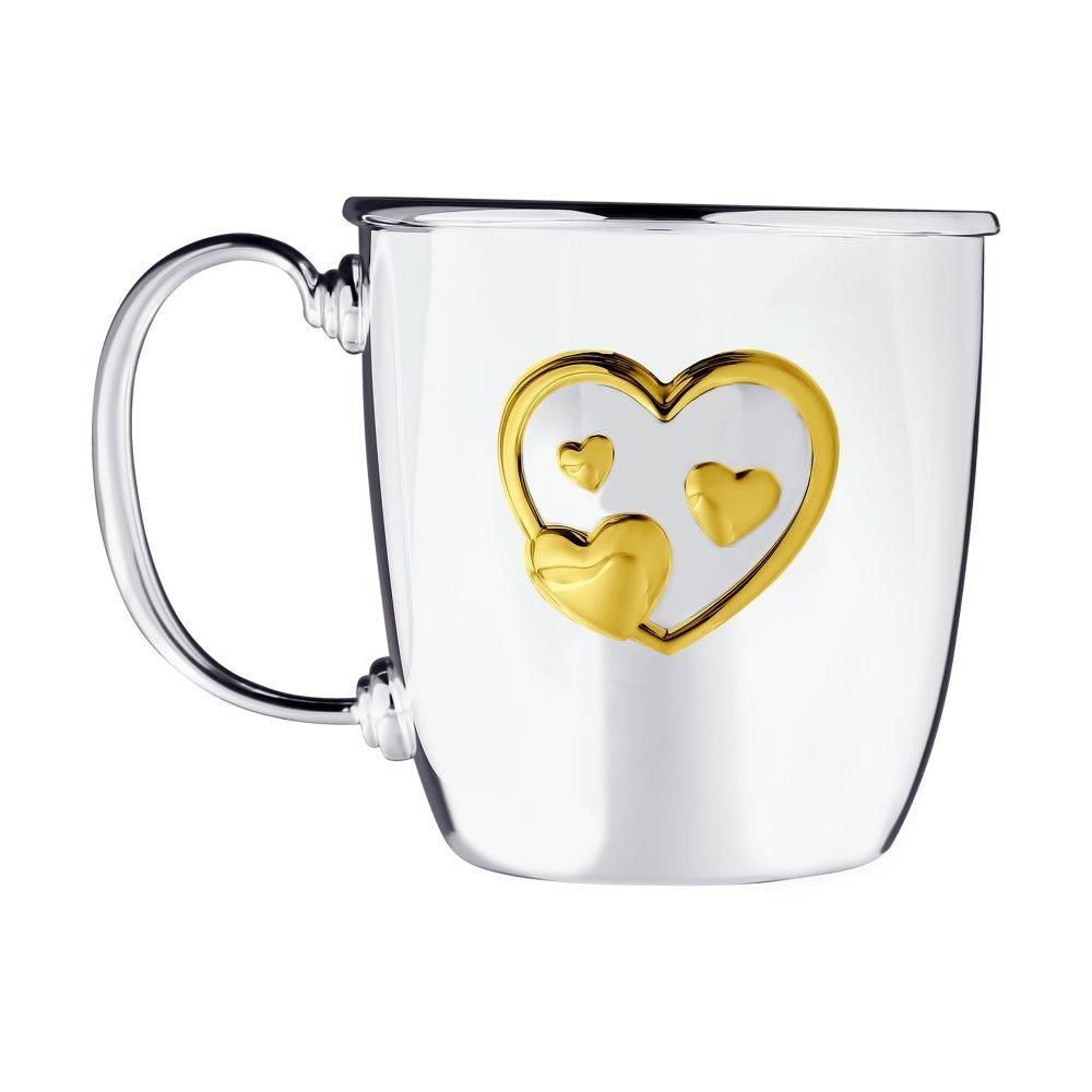 картинка кружка малая «сердце», позолота 2302010031