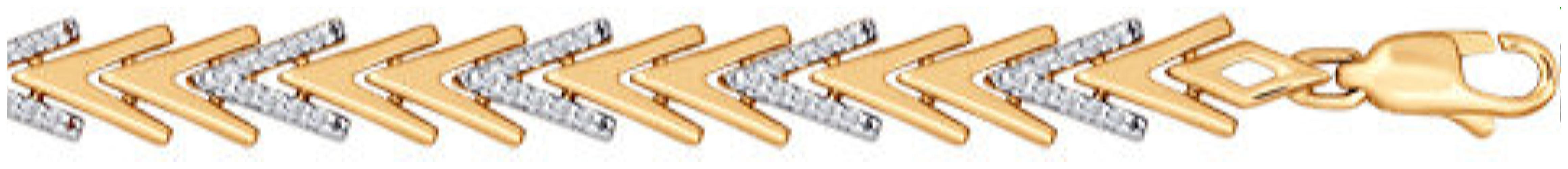 картинка браслет из золота 585° с фианитом 050830