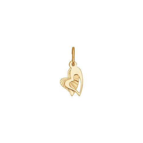 картинка подвеска из золота с алмазной гранью 030863