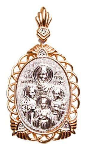 картинка подвеска из золота 585° с фианитом 03-1502-01-401-1111-42