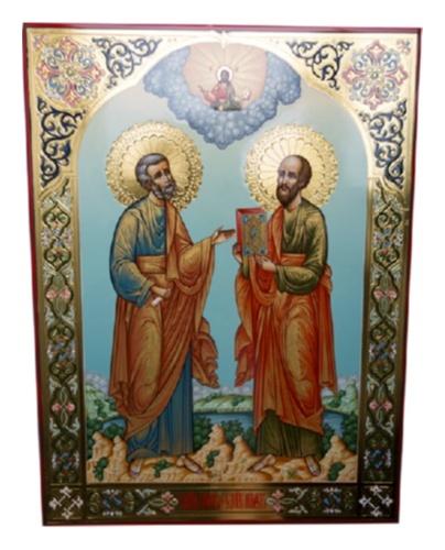 картинка икона из дерева Апост. Петр и Павел