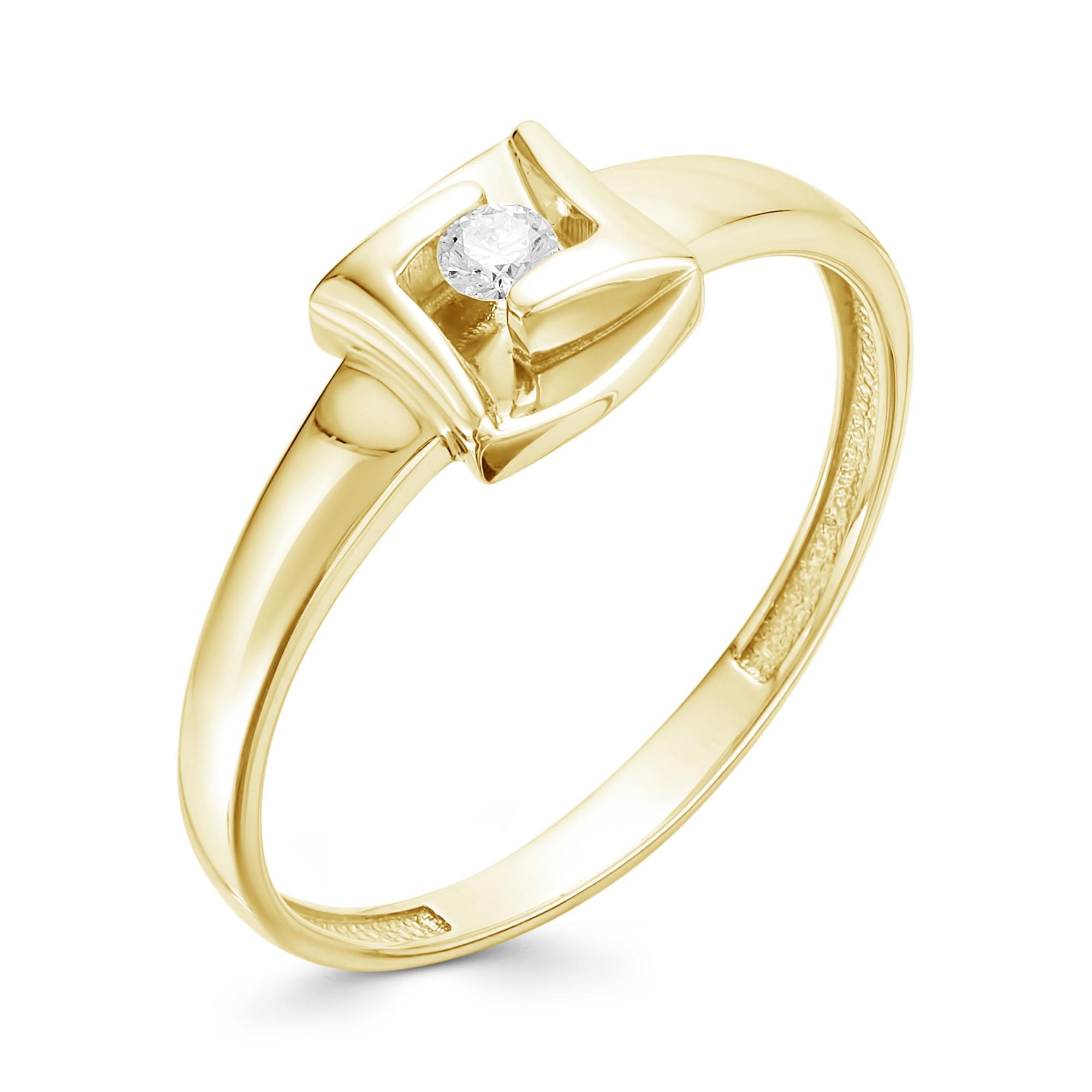 картинка кольцо 12716-300 1 бриллиант круг 57 0,058 15-20 3/6а 12716-300