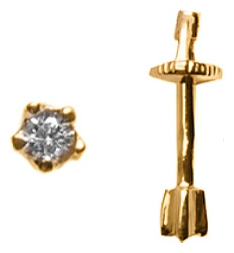 картинка серьги из золота 585° с фианитом 20-639