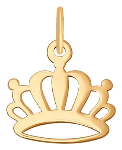 картинка подвеска из золота 585° с фианитом 035137