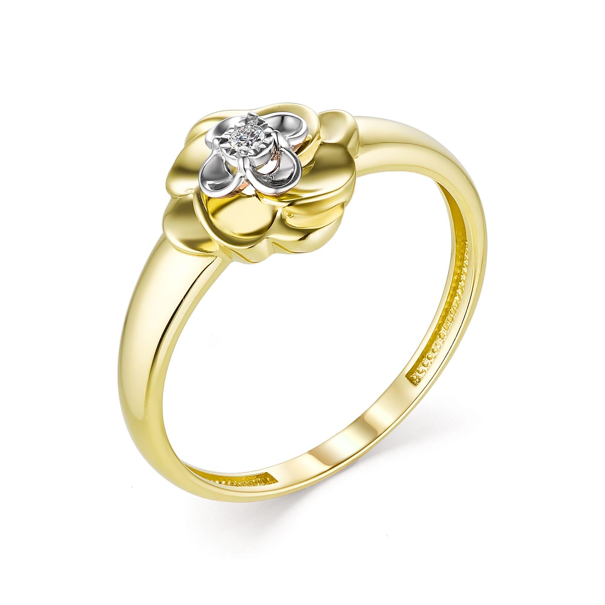 картинка кольцо 13283-300 1 бриллиант круг 57 0,016 60-90 4/5а 13283-300