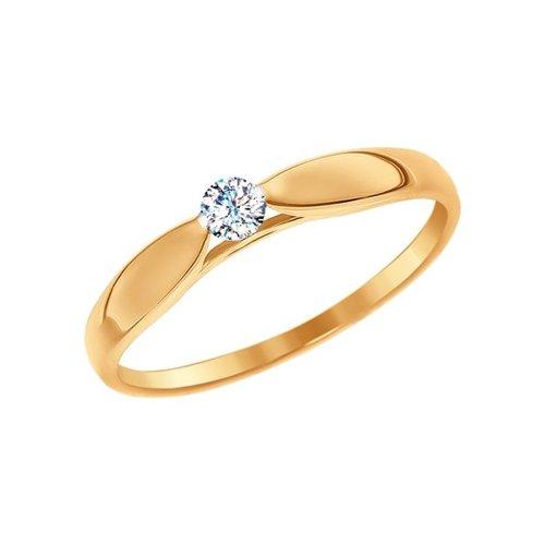картинка помолвочное кольцо из золота со swarovski zirconia 81010234