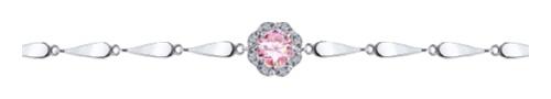 картинка браслет из серебра 925° с фианитом 94050499