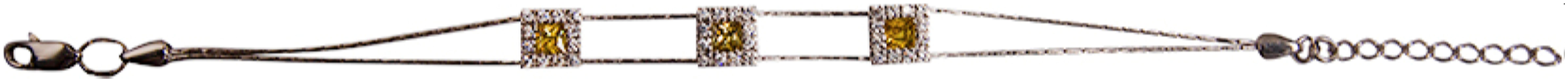 картинка браслет из серебра 925° с фианитом СБФ-39