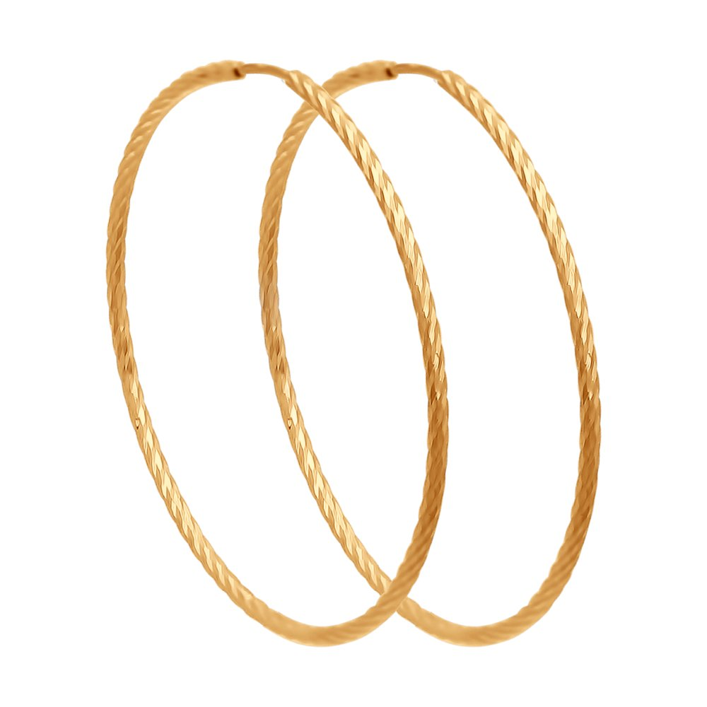 картинка серьги конго из золота с алмазной гранью 140145