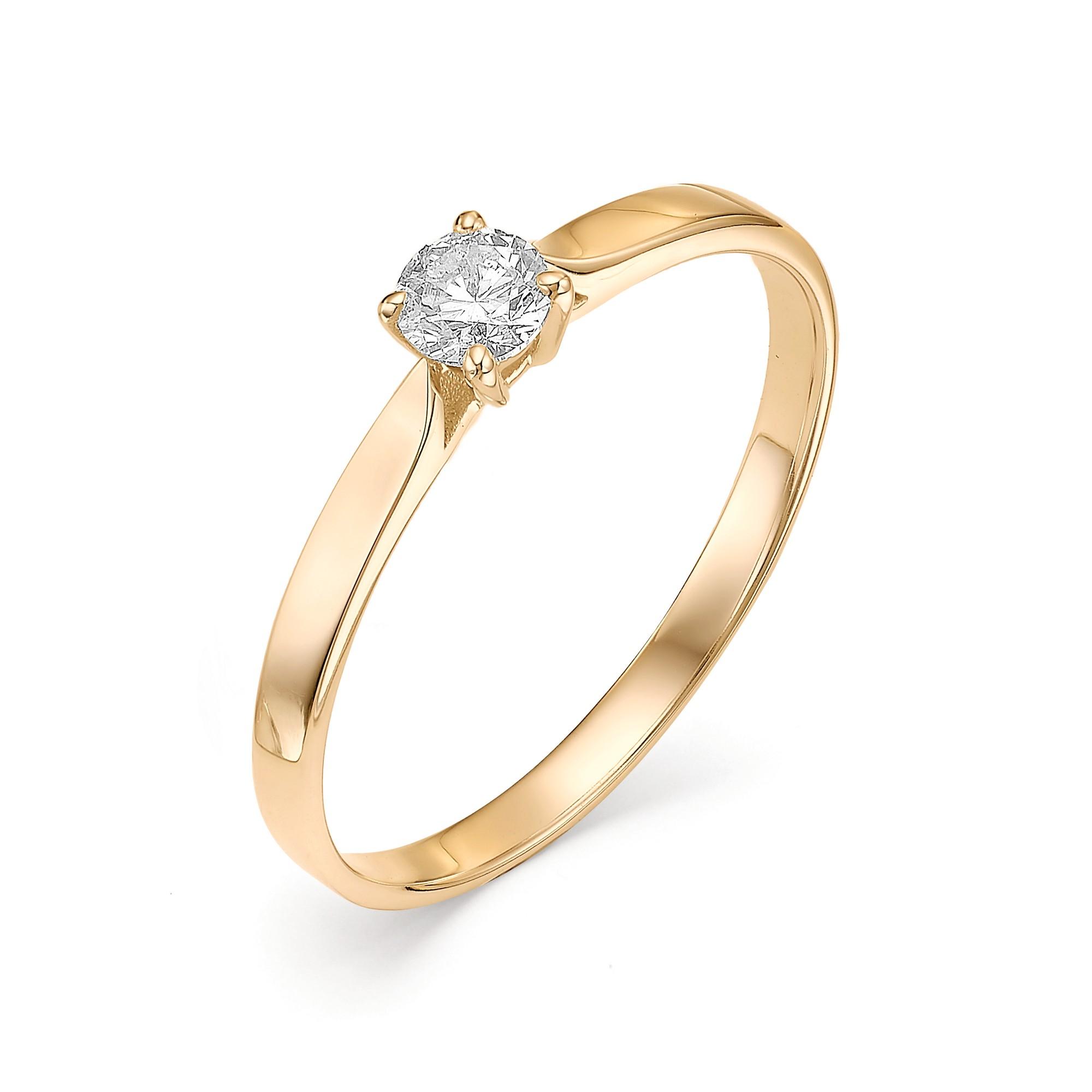 картинка кольцо 12428-100 1 бриллиант круг 57 0,203 5-6 4/5а 12428-100