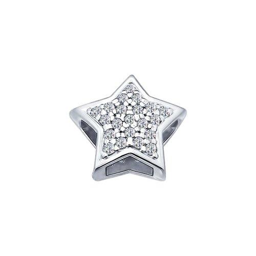 картинка подвеска-шарм из серебра «звезда» 94031685