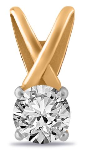 картинка подвеска из золота 585° с фианитом 01-315140