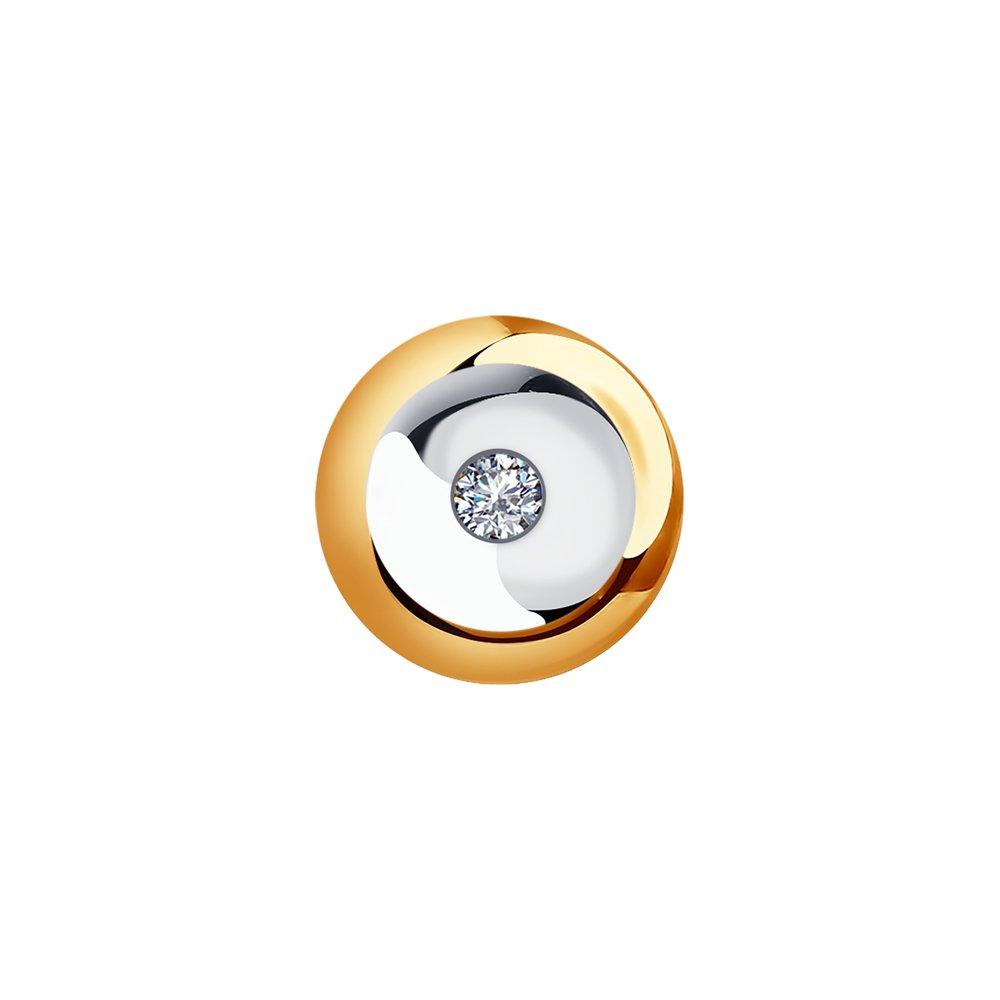 картинка подвеска из золота с бриллиантом 1030717