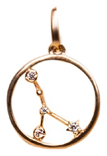 картинка подвеска из золота 585° с фианитом 121-1298