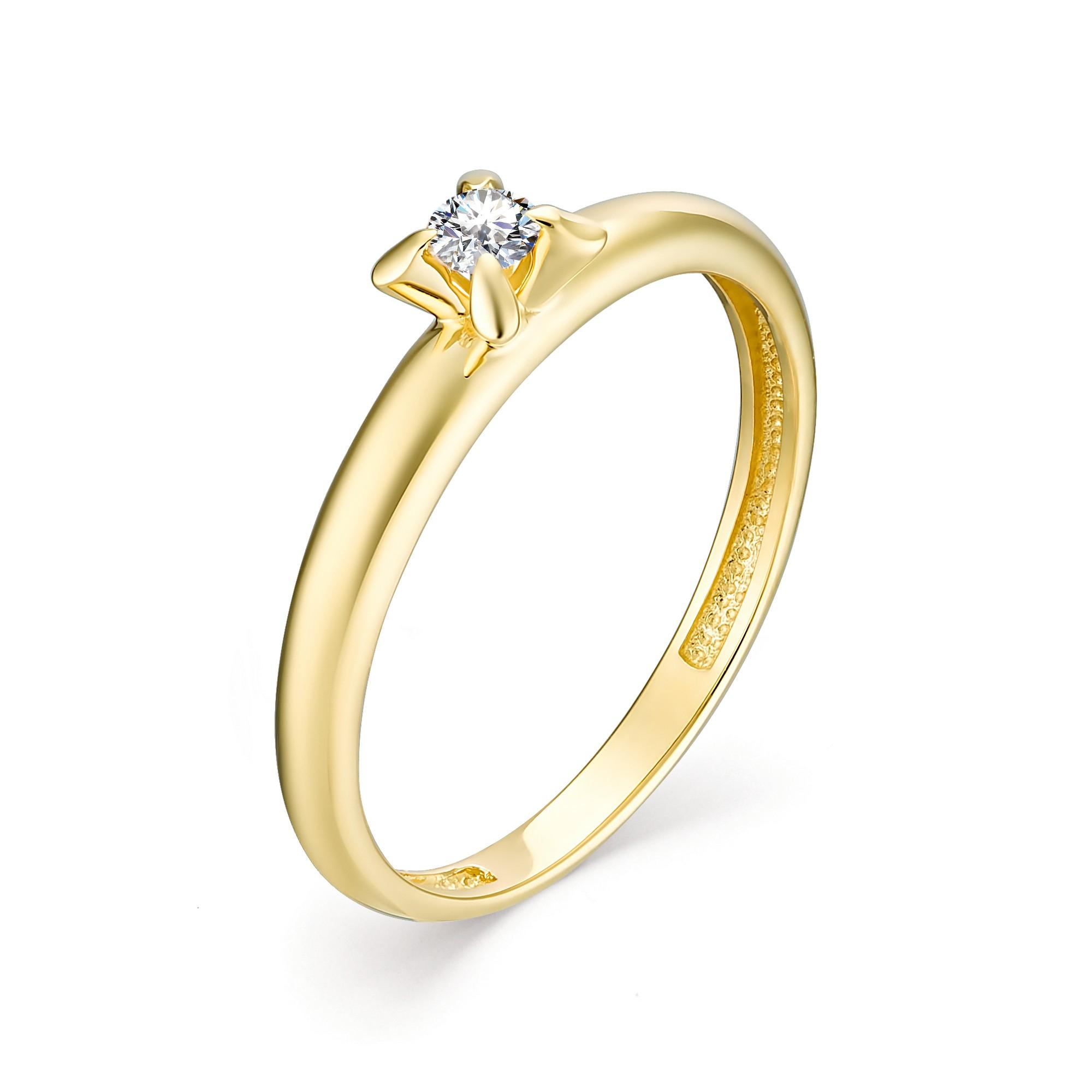 картинка кольцо 13019-300 1 бриллиант круг 57 0,088 10-15 4/6а 13019-300