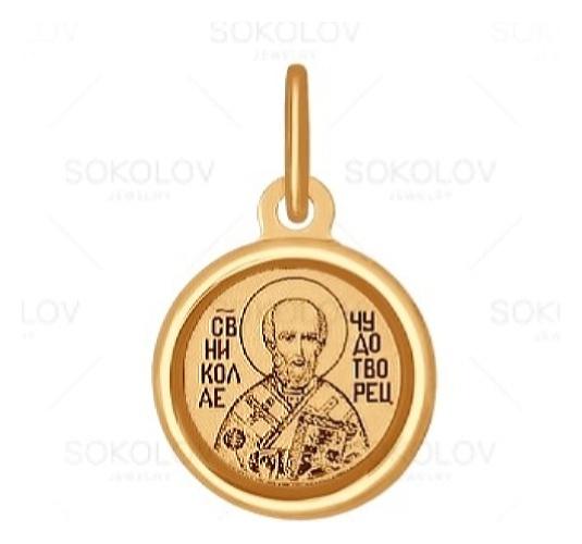 картинка подвеска из золота 585° с фианитом 103991