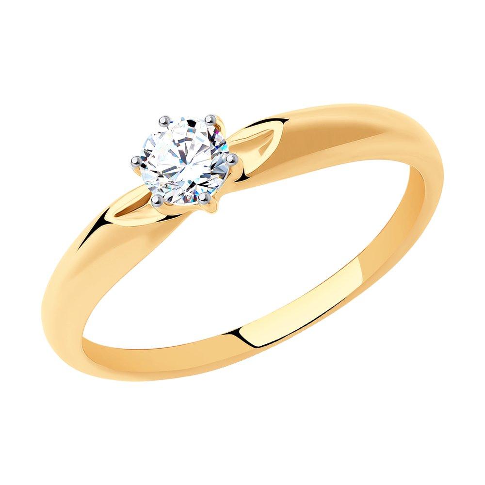 картинка помолвочное кольцо из золота со swarovski zirconia 81010214