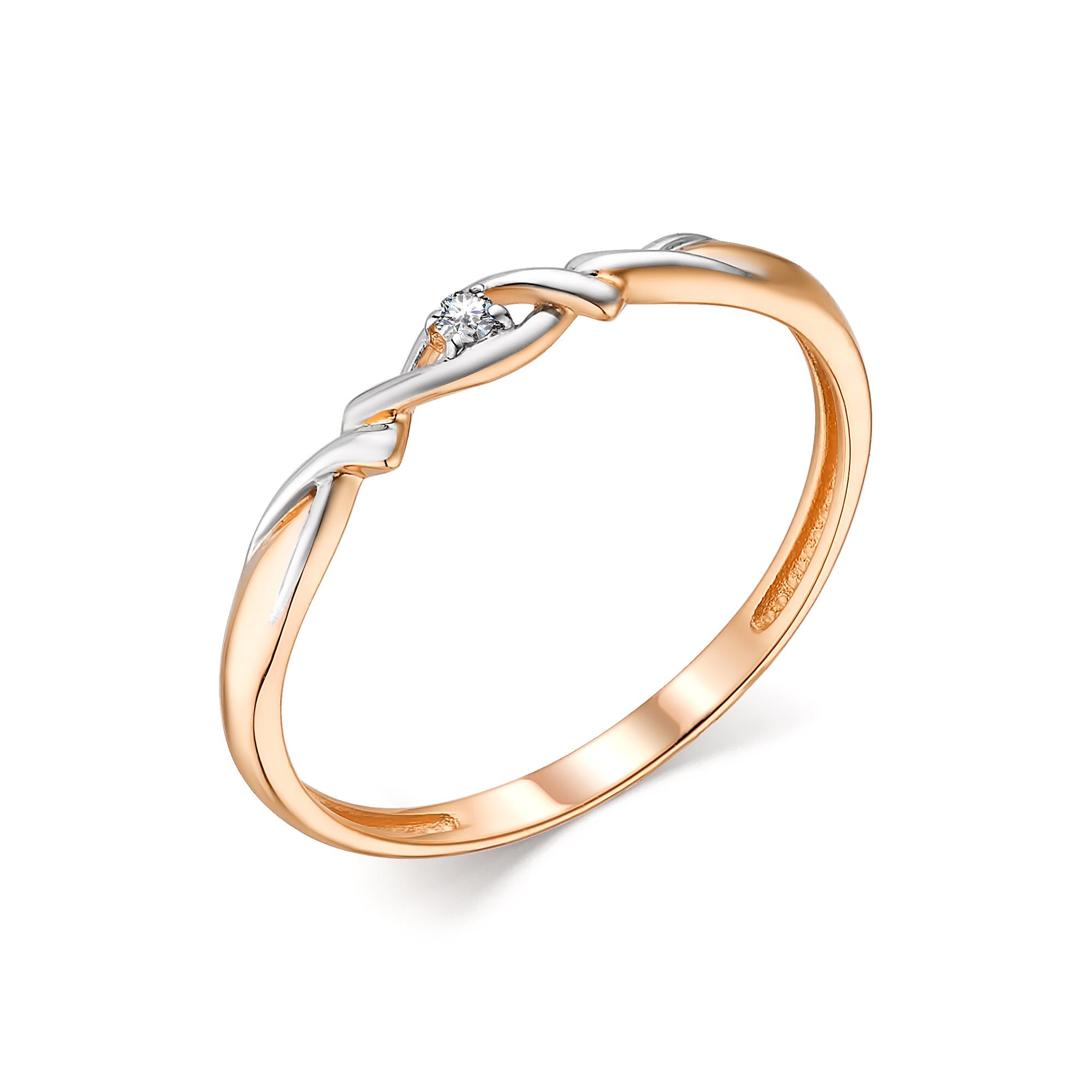 картинка кольцо 13804-100 1 бриллиант круг 57 0,015 60-90 4/5а 13804-100
