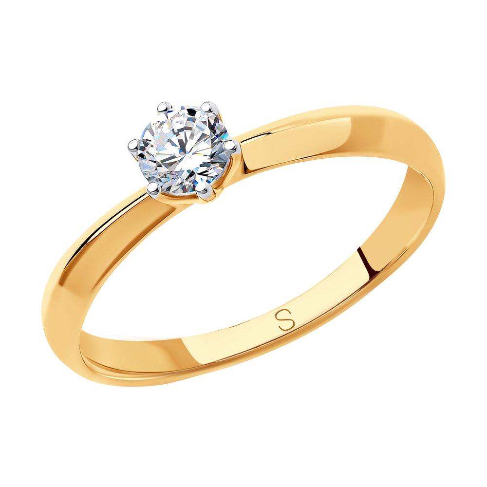 картинка помолвочное кольцо из золота со swarovski zirconia 81010225