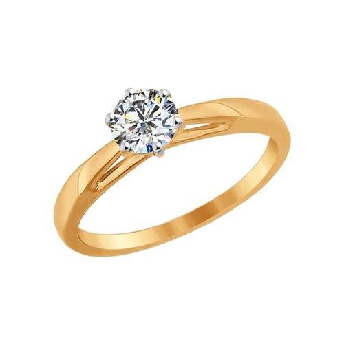 картинка помолвочное кольцо из золота со swarovski zirconia 81010209