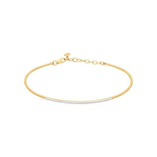 картинка браслет жёсткий из золота с бриллиантами 1050085