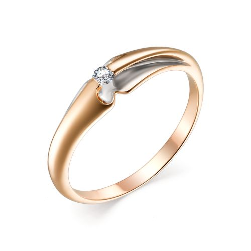 картинка кольцо 13438-700 1 бриллиант круг 57 0,051 20-25 3/6а 13438-700