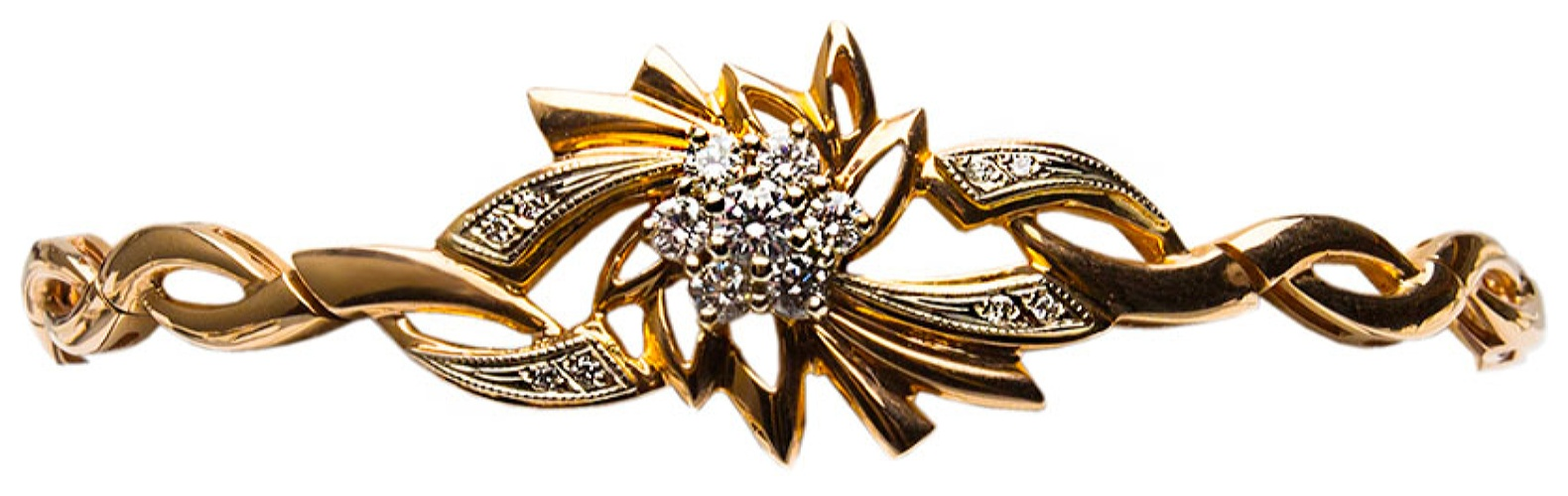 картинка браслет из золота 585° с бриллиантом 135102