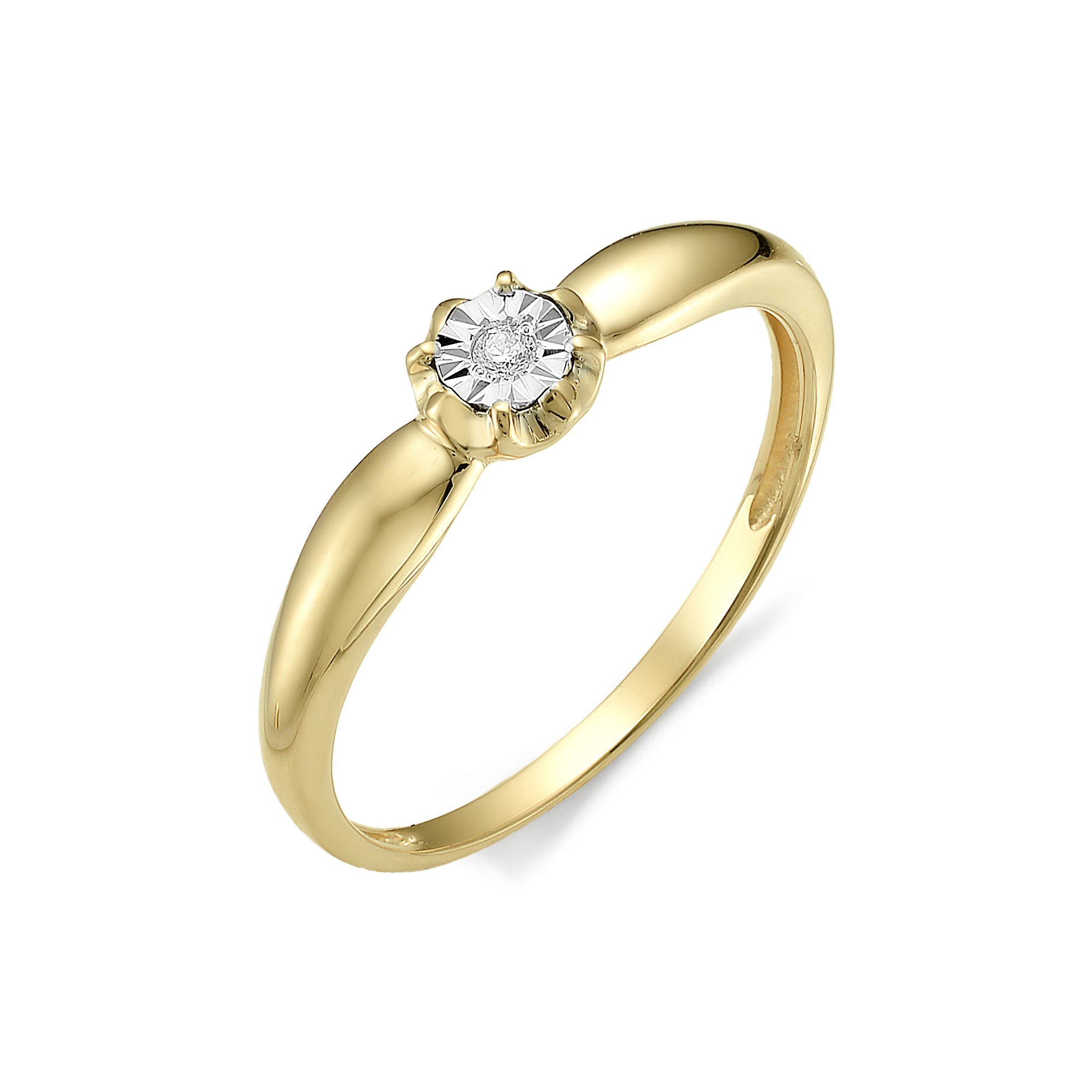 картинка кольцо 11965-300 1 бриллиант круг 57 0,016 60-90 4/5а 11965-300